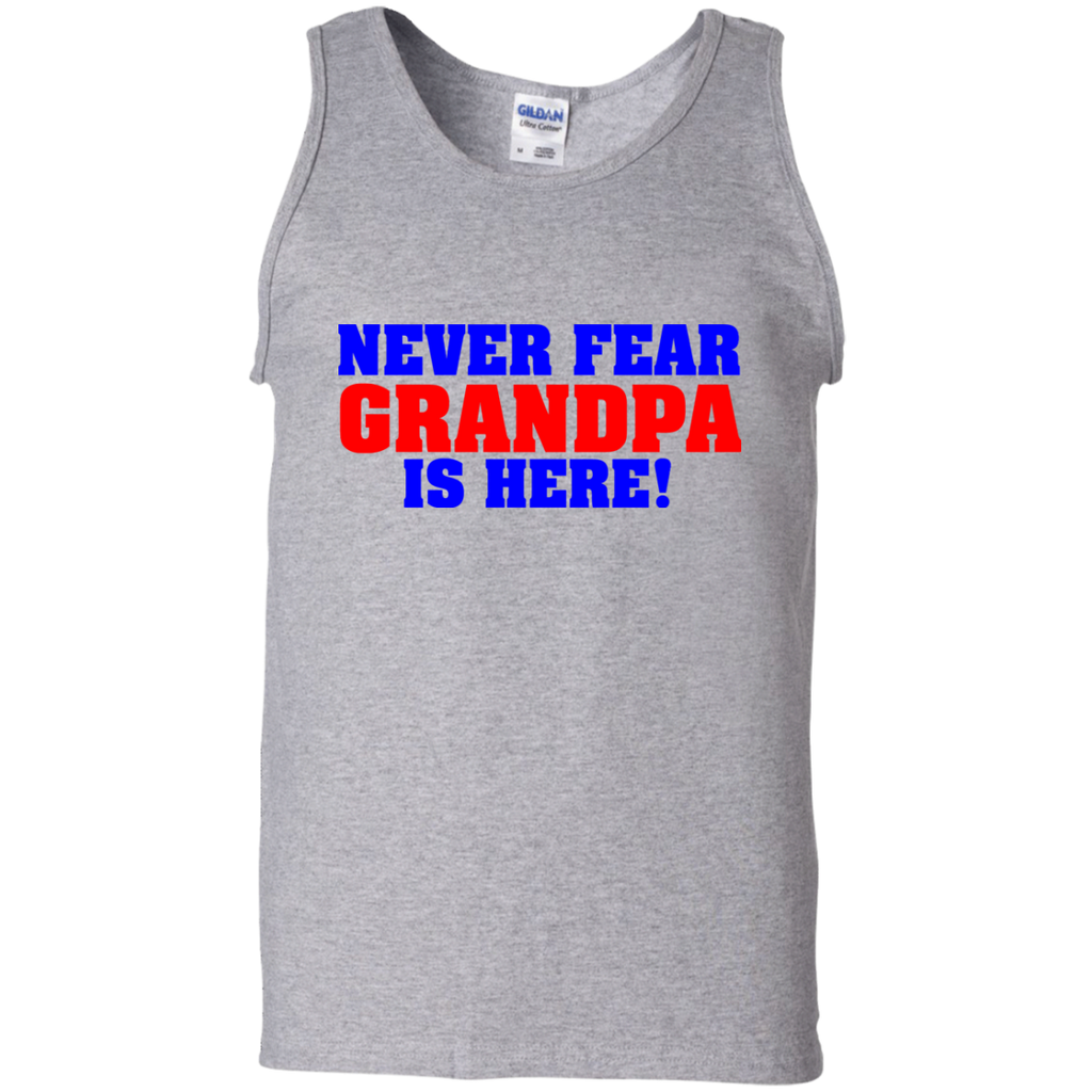 Never-Fear-Grandpa-is-here-100%-Cotton-Tank-Top-Ash-S-