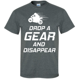 Drop-a-gear-&-Disappear-Motorcylce-Cotton-T-Shirt-Black-S-