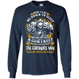 Now-I-Lay-Me-Down-To-Sleep-Beside-My-Bed-A-GUN-LS-T-Shirt-Black-S-