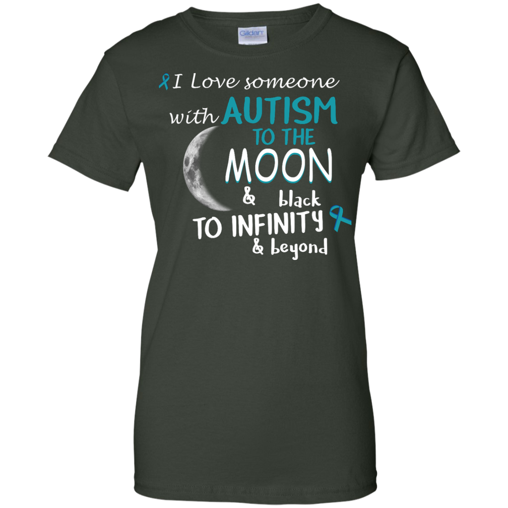 Autism-Awareness---autism-to-the-moon---Men/Women-T-Shirt-Custom-Ultra-Cotton-T-Shirt-Black-S