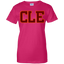 CLE-Ladies-Custom-100%-Cotton-T-Shirt-Black-XS-