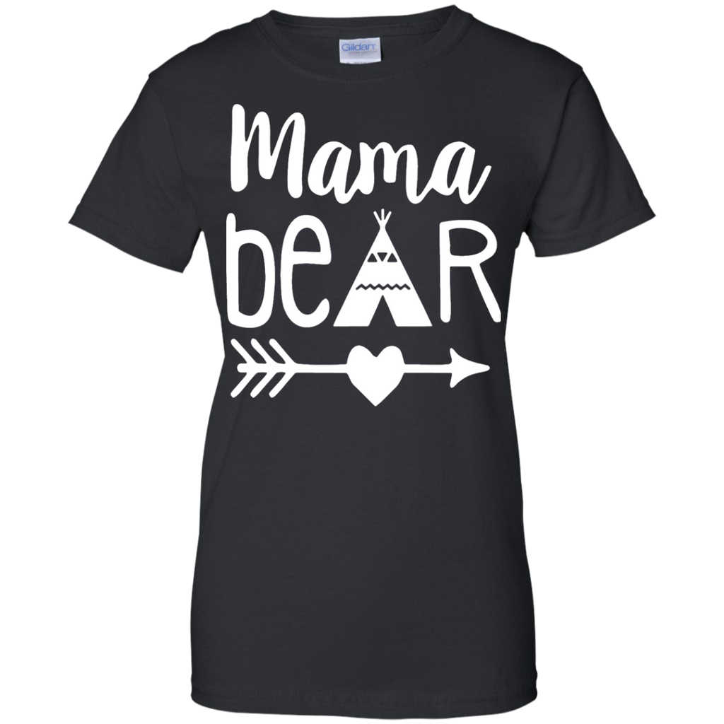 Cute-Mama-Bear-Ladies-T-Shirt---Teeever.com-Black-XS-