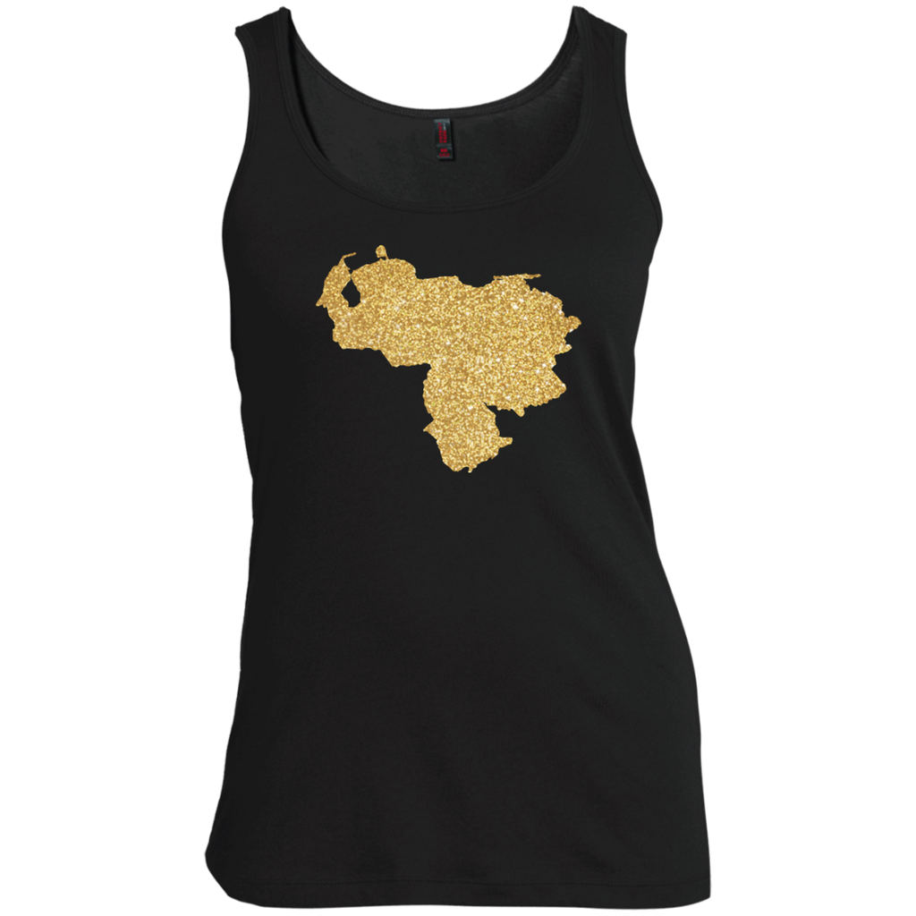 Venezuela-Map-Gold-No-More-Dictator-Love-My-Country-Women's-Tank-Top-Warm-Grey-XS-