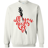 All-You-Need-Is-Love,-Valentine,-Valentine's-Day-Baseball-Crewneck-Pullover-Sweatshirt-8-oz-White-S-