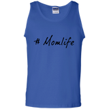 #Mom-Life---Tank-top,-tank-top---Teeever-100%-Cotton-Tank-Top-White-S