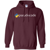 Funny-Python-Programming-Pseudocode-Pullover-Hoodie-Black-S-