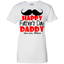Happy-Father's-day-Ladies-Custom-100%-Cotton-T-Shirt-Sport-Grey-XS-