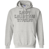 Happy Halloween Witches Pullover Hoodie 8 oz - Ash / S- Hoodies -TeeEver.com