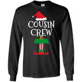 Cousin Crew Elf Matching Family Group Christmas LS Shirt/Hoodie/Sweatshirt Man, Woman, Custom Graphic Design, Saying Quote, slogan Plus size, TeeEver