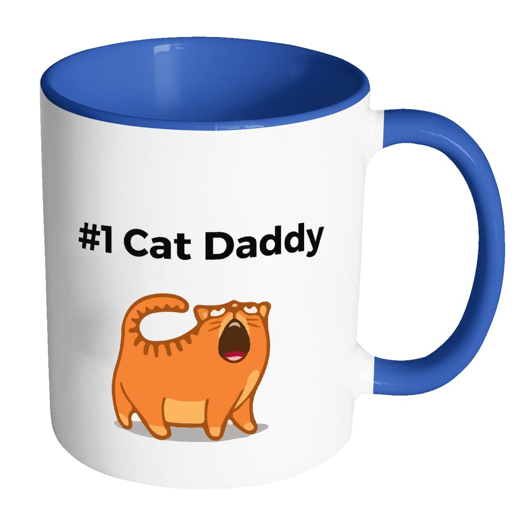#1-Cat-Daddy---Mugs---Father's-Day-Gift-Idea-Accent-Mug---Black-