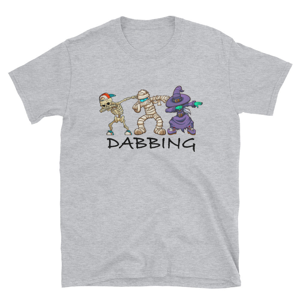 Dabbing Skeleton And Monsters Halloween Dracula T-Shirt