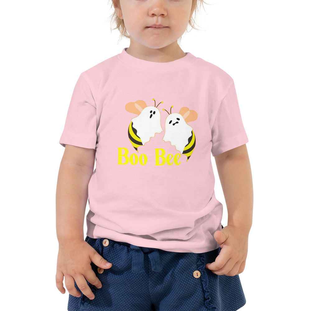 Funny Halloween Shirt Boo Bees Ghost Toddler Tee