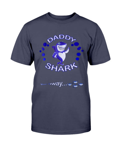 Daddy Shark T-Shirt Father Grandpa & Halloween & Christmas