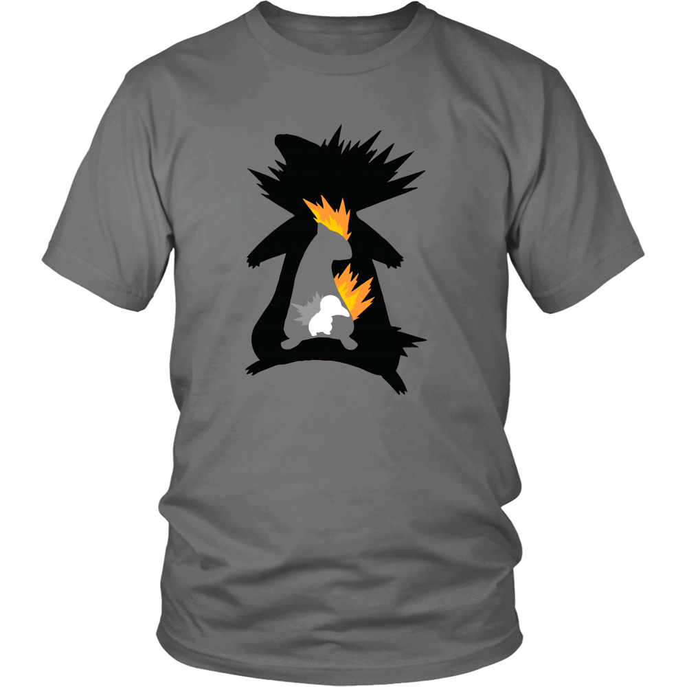Pokemonster-cindaquil-and-quilava-and-typhlosion---Kids,-Men,-Women's-Shirt,-Tank-Top,-Hoodie-District-Unisex-Shirt-White-S