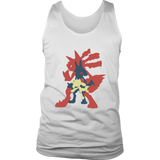 Pokemonster-Riolu-and-Lucario---Kids,-Men,-Women's-Shirt,-Tank-Top,-Hoodie-District-Unisex-Shirt-White-S