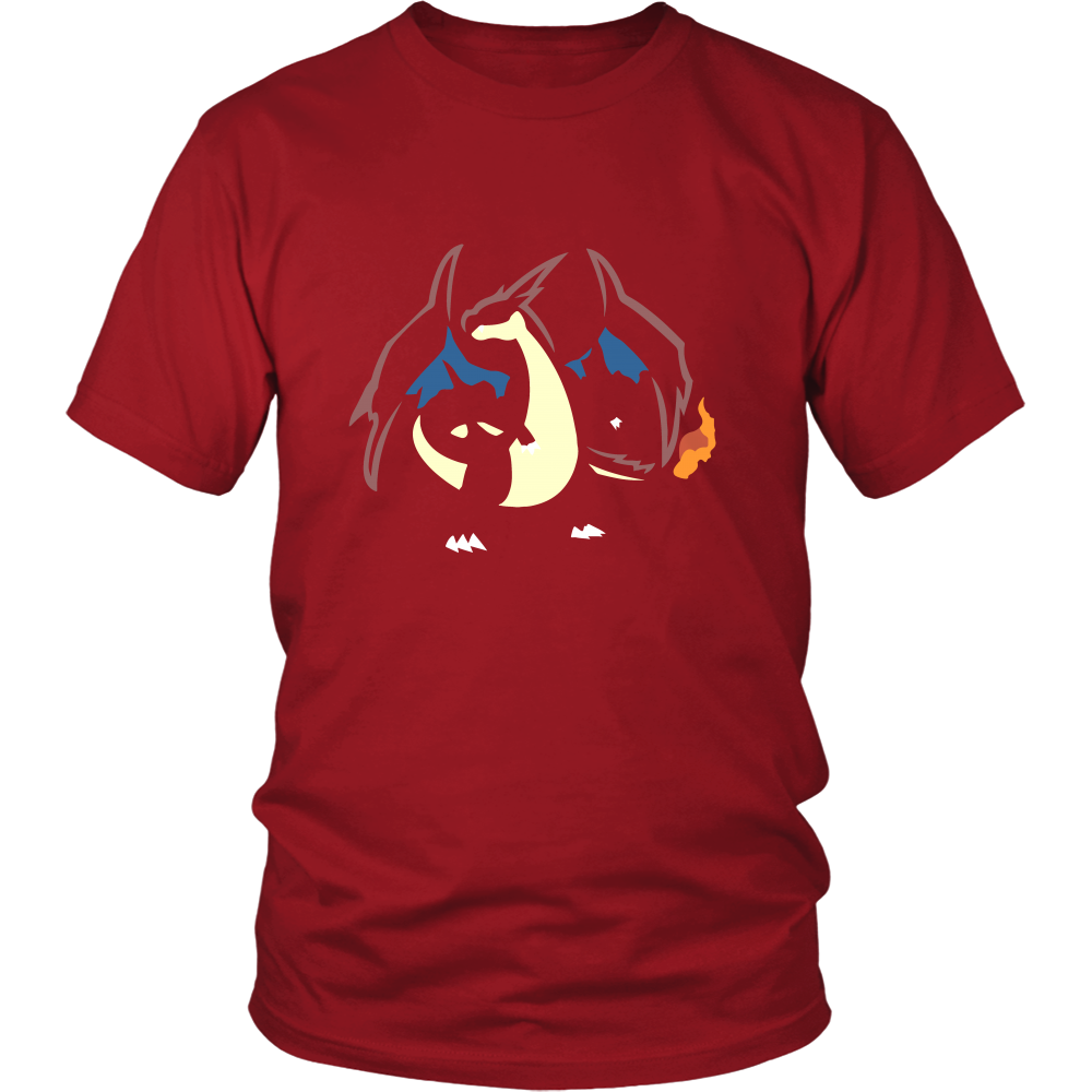 Pokemonster-charizard1---Kids,-Men,-Women's-Shirt,-Tank-Top,-Hoodie-District-Unisex-Shirt-Red-S