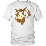 Pokemonster-Pichu-and-Pikachu-and-Raichu---Kids,-Men,-Women's-Shirt,-Tank-Top,-Hoodie-District-Unisex-Shirt-White-S