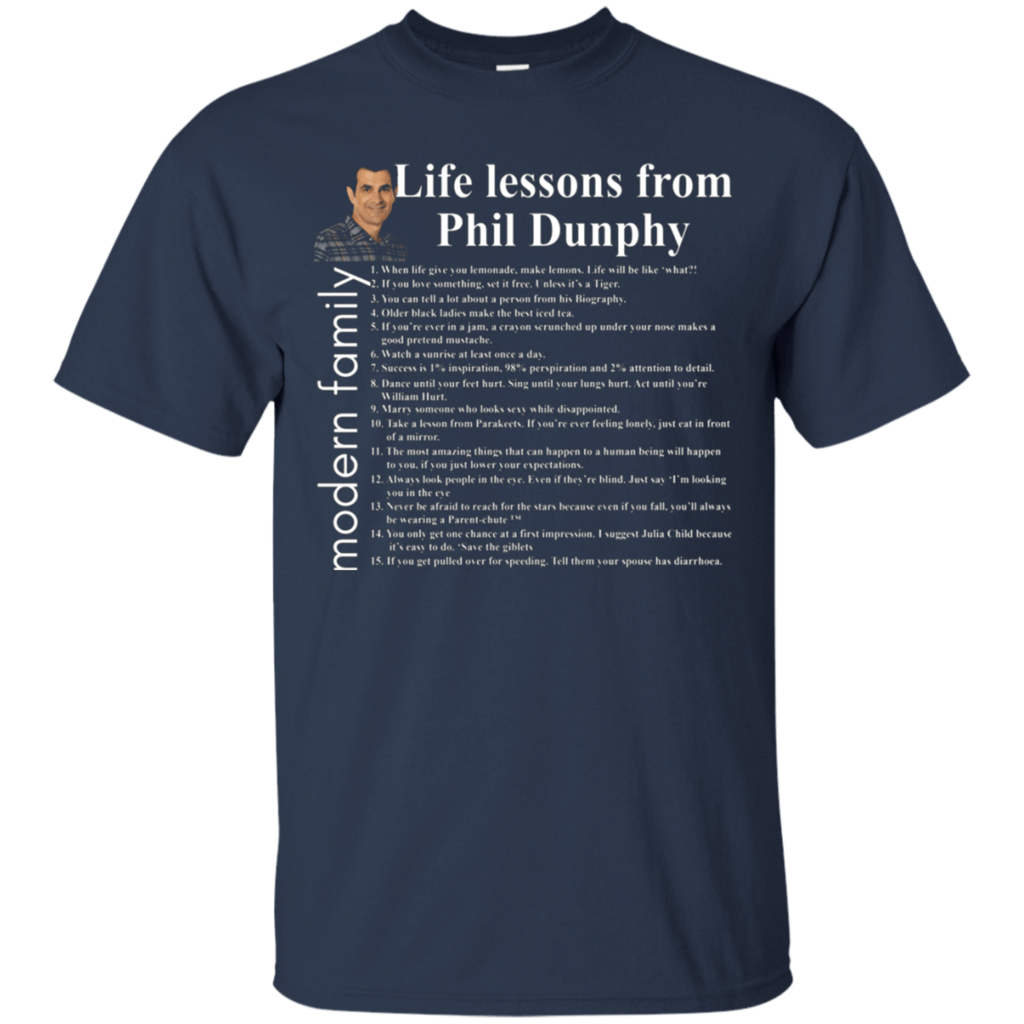 Life-lessons-from-PHIL-DUNPHY-T-Shirt-Black-S-