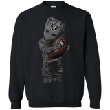 Baby-Groot-Oakland-Raiders-football-shirt-Sweatshirt-Black-S-