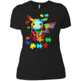 Autism-Pikachu-t-shirt-Ladies'-Boyfriend-shirt-Black-X-Small-