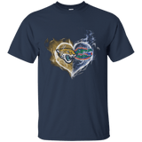 Perfect-Jacksonville-Jaguars-and-Florida-Gators-in-heart-Cotton-T-Shirt-M-Black-
