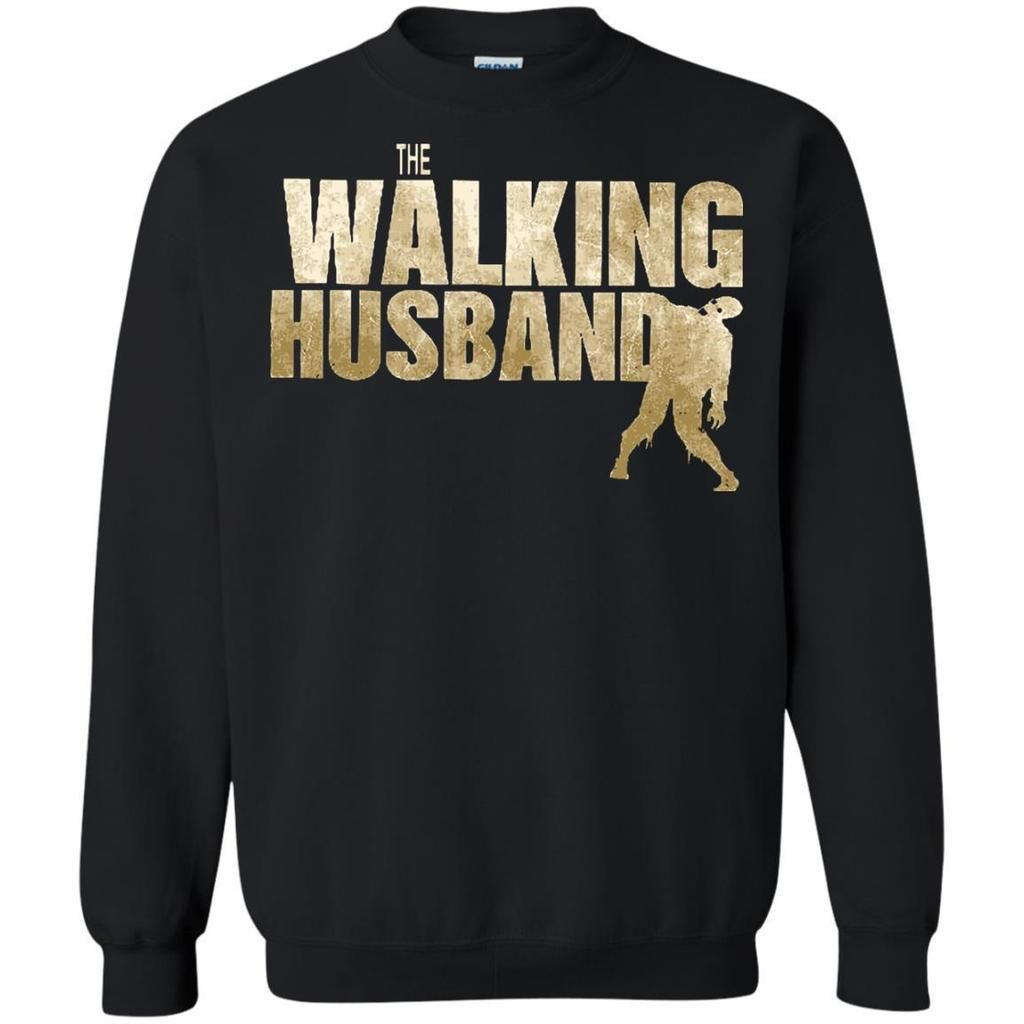 The-Walking-Dead-T-shirts-The-Walking-Husband-Hoodies-Sweatshirts-G200-Gildan-Ultra-Cotton-T-Shirt-Black-Small