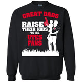 Utah-Utes-T-shirts-Great-Dads-Raise-Their-Kids-To-Be-Utes-Fan-Hoodies-Sweatshirts-G200-Gildan-Ultra-Cotton-T-Shirt-Black-Small
