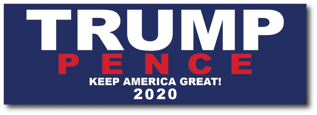 Donald Trump and Mike Pence 2020 Magnetic Bumper Sticker