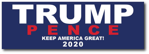 Donald Trump and Mike Pence Magnetic Bumper Sticker