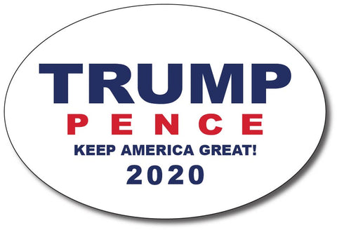 Donald Trump and Mike Pence White Oval Bumper Sticker