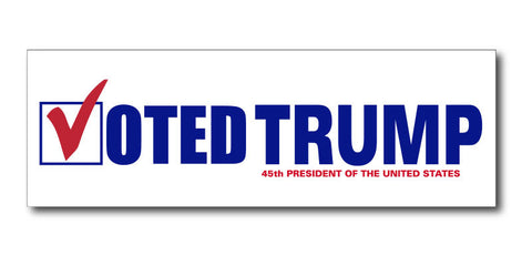 """Voted TRUMP"" - Bumper Sticker (Free Shipping)"