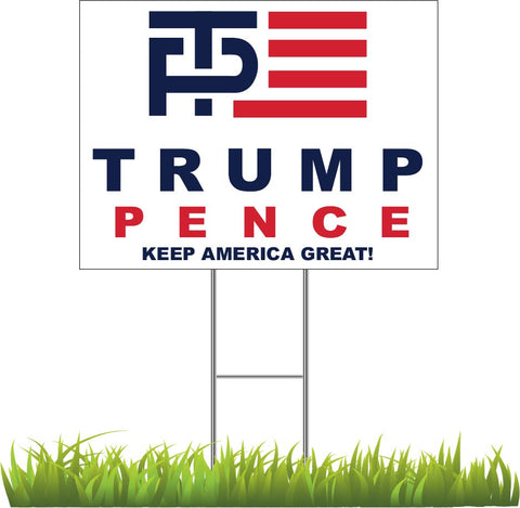 Donald Trump and Mike Pence Logo Yard Sign