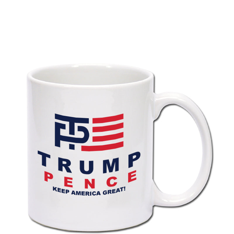 Donald Trump and Mike Pence Logo Coffee Mug