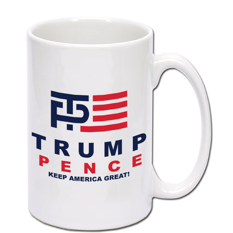 Donald Trump and Mike Pence Logo Coffee 15oz Mug