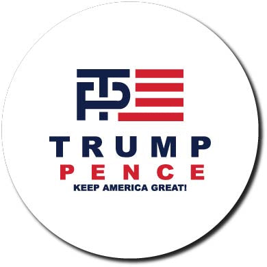 Donald Trump and Mike Pence Logo Button