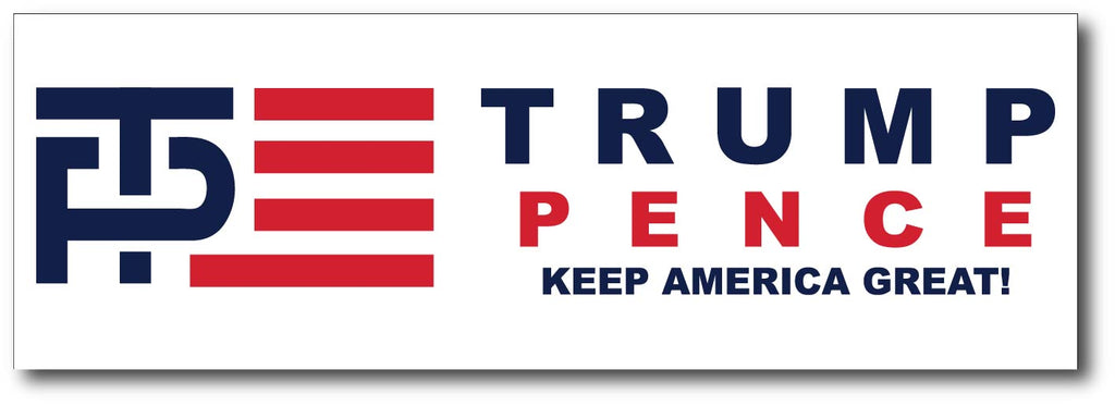 Donald Trump and Mike Pence Logo Bumper Sticker