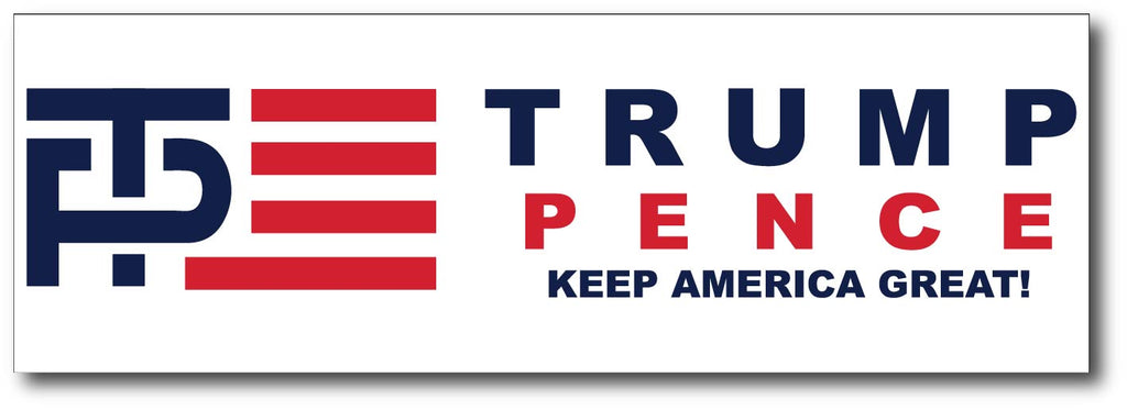Donald Trump and Mike Pence Logo Magnetic Bumper Sticker