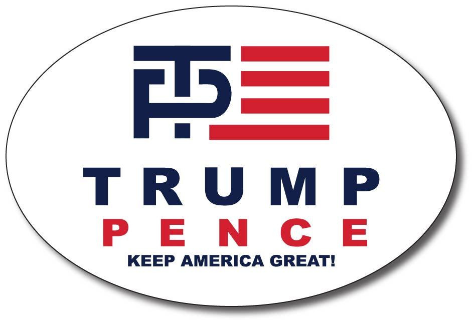 Donald Trump and Mike Pence Oval Logo Bumper Sticker