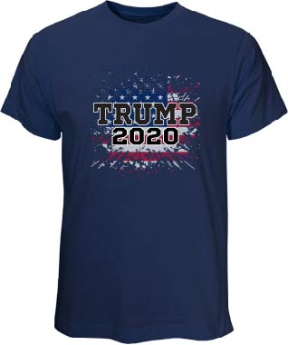 Trump for President 2020 Navy T-Shirt