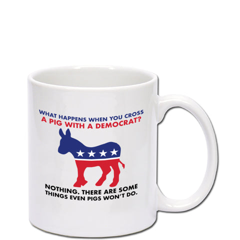 Joking Pig and Democrat 11 oz Mug