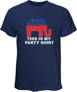 """This Is My Party Shirt"" Navy T-Shirt"