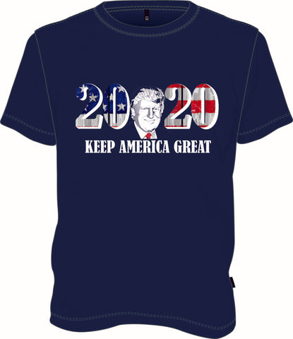 Trump 2020 Keep America Great Navy T-Shirt