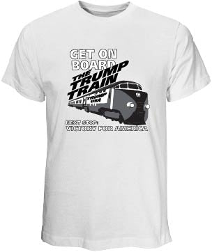 Trump Train White T-Shirt
