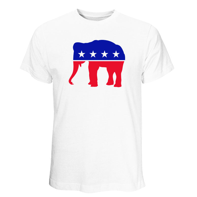Republican - Red, White & Blue Elephant White T-shirt