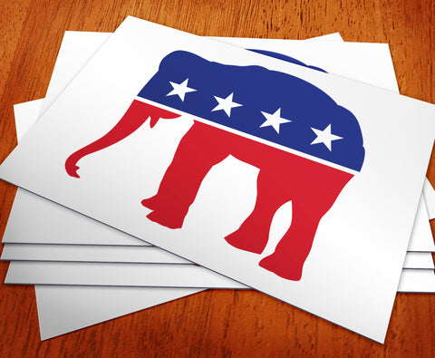 Republican - Red, White & Blue Elephant Rally Sign