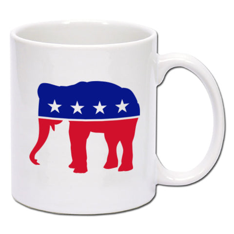 Republican - Red, White & Blue Elephant Coffee Mug