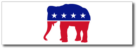 Republican Red, White & Blue Elephant Magnetic Bumper Sticker