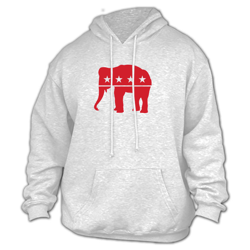 Republican - Red Elephant Gray Hoodie