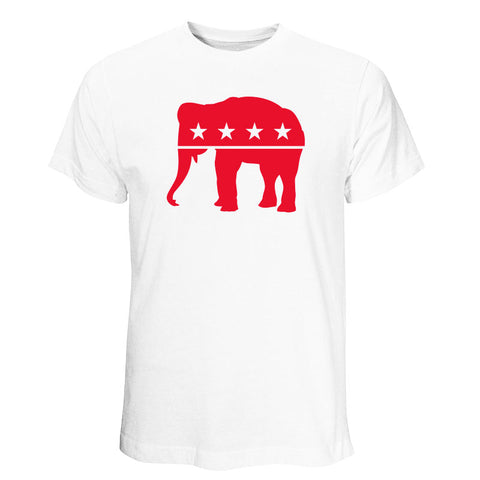 Republican - Red Elephant White T-shirt