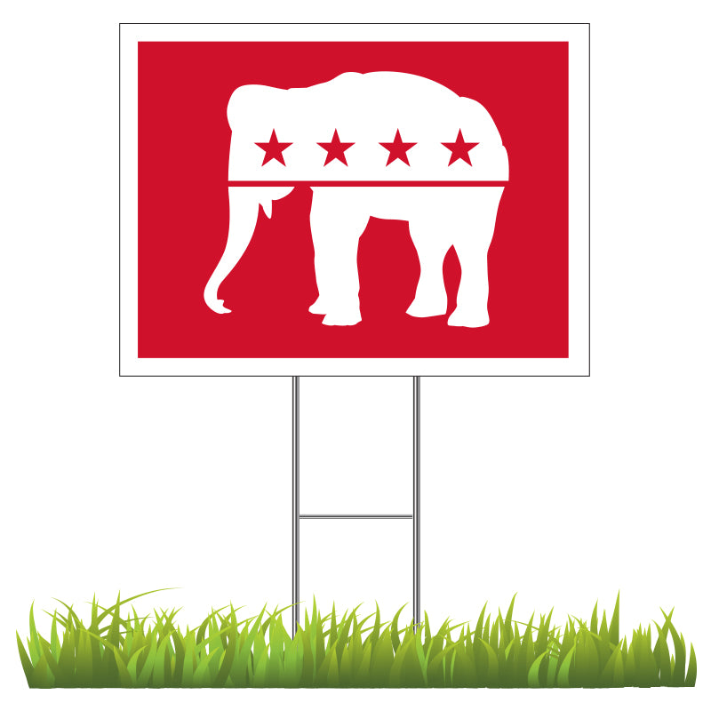 Republican - Red Elephant Yard Sign
